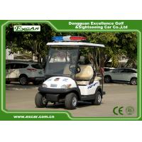 Buy cheap White 4 Seater Electric Security Patrol Vehicles 48V 3.7KW Aluminum Material from wholesalers