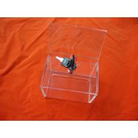 Buy cheap Clear Acrylic Storage Boxes With Lock For Donation 230 * 155 * 110mm product