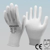 Buy cheap Mining White Polyurethane Pu Coated Hand Gloves For Delicate Operations from wholesalers