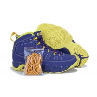 China Retro Jordan 9 shoes Yellow and Purple Blue Men Basketball Sneakers 046 on sale