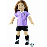 Buy cheap 18 Cute Soccer Doll Clothes Set , Purple / White Madame Alexander Dolls Outfits from wholesalers