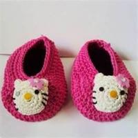 Buy cheap 100% wool Warm Hand crocheted baby shoes, knitted baby products for Autumn, Winter product