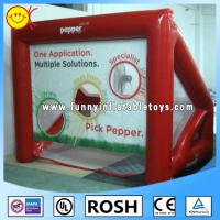 Buy cheap Red Inflatable Sports Games Football Soccer Shooting Goal Silk Printing from wholesalers