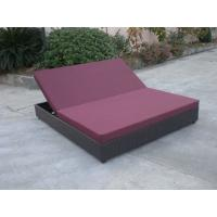 Buy cheap Outdoor Rattan Material Chaise Lounge Daybed In Double,Cushion Cover With Adjustable Back from Wholesalers