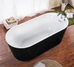Buy cheap cUPC one piece black freestanding acrylic tubs,freestanding bath,luxury bathtubs from wholesalers