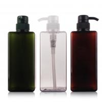 Buy cheap Clear Square 250ml Pet Plastic Jars , Custom Color Empty Plastic Shampoo Bottles from wholesalers