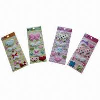 Buy cheap 3D layers handmade fabric sticker, eco-friendly, OEM and ODM orders are welcome product
