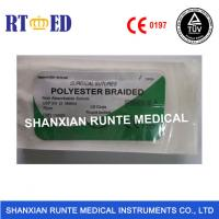Buy cheap Surgical Medical Polyester sutures with needle,  Non Absorbable sterial, safe material of polyamide,CE&ISO Approval from wholesalers