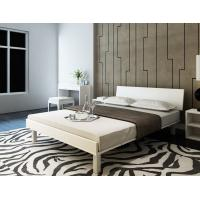 Buy cheap Mealmine board Simple double plate bed 1.8 meters in Nordic design adult bed 1.5m IKEA tatami single bed with Iron legs product