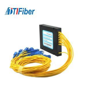 Buy cheap Telecom Level PLC Optical Audio Splitter Singlemode Suit For 1260~1650 Wavelength product