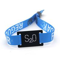 Buy cheap Door Lock Nfc Tag Wristband , NTAG213 Woven Rfid Nylon Wristband For Music Festival from wholesalers