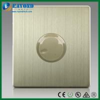 Buy cheap 300W Fan Speed Control Switch on Wall with Brushed Stainless Steel Panel from wholesalers