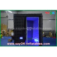Buy cheap Lightweight 18 Kg Black Inflatable Photo Booth Enclose Cube With Led Lighting from wholesalers
