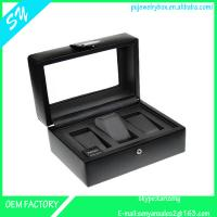 Buy cheap 3 slots leather watch box ,watch case,watch storage box  for men from wholesalers