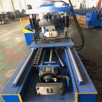 China Metal Customize Strut Slotted Furring Channel Purlin Roll Forming Machine With Gear Box Device on sale