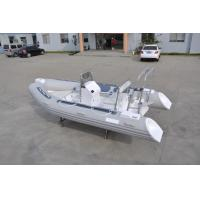 Buy cheap PVC Small Inflatable Fishing Boats Rib430 Light Grey With Inflatable Tube from wholesalers