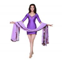 Buy cheap Sexy Short Dress Belly Dancing Costumes In Dark Blue For Performance Or Stage from wholesalers