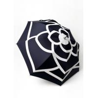 Buy cheap Personalized Flower Printed Logo Straight Lady Umbrella With Transparent Crook Handle from wholesalers