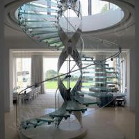 Buy cheap clear laminated glass,anti-slip glass stair railing /glass floor with SentryGlas certification from wholesalers