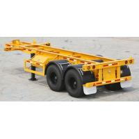 Buy cheap 2 Axles 20 Foot Flatbed Truck Trailer With 4 Or 12 Set Twist Locks SGS Standard from wholesalers