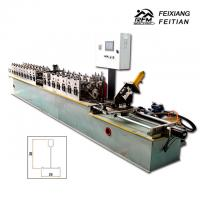 Buy cheap Automatic Main And Cross T Grid Steel Deck Forming Machine 25mm Column Plate Frame from wholesalers