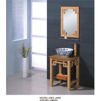 Art ceramic basin bowl bathroom sinks vanities , vintage style bathroom vanity wooden material