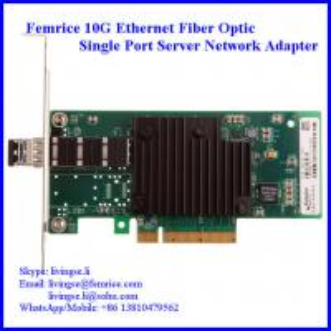 China 10G Single Port SFP+ Slot PCI Express x8 Server Network Adapter (Intel 82599 Chipset) on sale