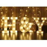 Buy cheap Custom Color Decorative Metal Alphabet Letter with Light Metal Decorations Crafts from wholesalers