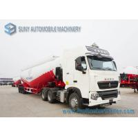 Buy cheap White Durable Heavy Duty Dry Bulk Tanker Trailer High Capacity from wholesalers