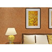 Buy cheap 0.53*10m Mica Wall Covering / Non - Woven Living Room Modern Wallpaper Yellow Color from wholesalers