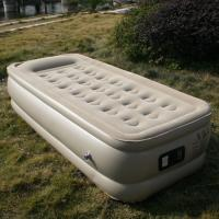 Buy cheap flocked PVC inflatable single air bed from wholesalers