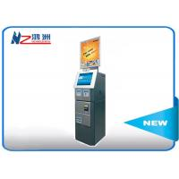Buy cheap Cash acceptor touch screen information kiosk for bus airport metro station from wholesalers