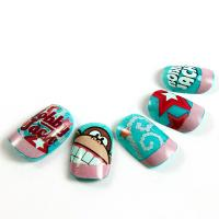Buy cheap Magical Bobby Jack Cartoon Fake Nails Kids Finger 3D Lovely Artificial Nail from wholesalers