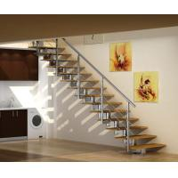 Buy cheap Stainless Steel Straight Staircases , Laminate Tempered Glass Steps from wholesalers
