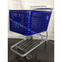 "Buy cheap 125L Plastic Supermarket Shopping Cart 4"" Unfloding With Steel Tubes from wholesalers"