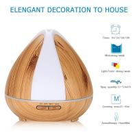 Buy cheap 400ml Wooden Aroma Diffuser 400ml Aroma Diffuser for Essential Oil Aromatherapy Ultrasonic Cool Mist Humidifier from wholesalers