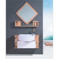 Buy cheap Round Type Natural wood Bathroom Cabinet with mirror various size 80 * 80 * 16cm mirror from wholesalers