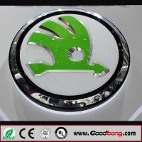 Buy cheap professional custom shape 3D acrylic vacuum forming round car sign from wholesalers