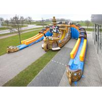 Buy cheap Giant Inflatable Pirate Cove Ship With Two Lanes Slide For Children Entertainment from wholesalers