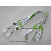 Buy cheap Polyester Neck Lanyard with Retractable Badge Reel for Business ID Name Badge Holder from wholesalers