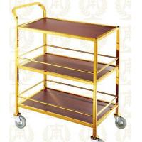 Buy cheap 3 Layers Service Trolley Oblong Room Service Equipments 880*465*940mm from wholesalers