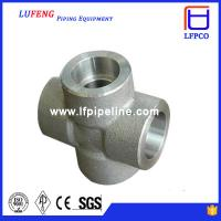 Buy cheap 3000 LBS Carbon Steel Forged Pipe Fitting Socket Weld Cross from wholesalers