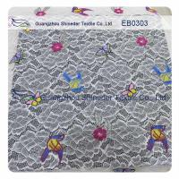 Buy cheap Elastic Multi-color Embroidery Lace Fabric from wholesalers