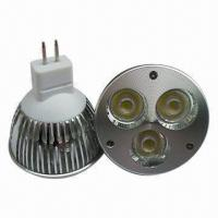 Buy cheap Dimmable MR16 LED Lights, 3W Power, 6,000 to 6,500K Cool White, 35,000 Hours Lifespan from wholesalers