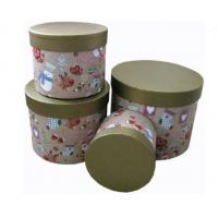 Buy cheap Round Biodegradable Sturdy Base And Lid Cardboard Boxes Christmas Pattern from wholesalers