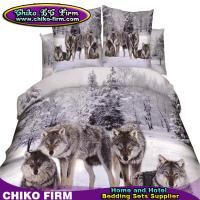 Buy cheap 100% Cotton Queen Size 3D High Digital Wolf Printing Bedding Sets from wholesalers