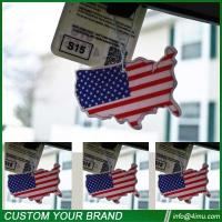Buy cheap Black ice 7*9cm USA flag nice cotton car paper air freshener from wholesalers