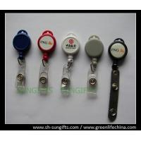 Buy cheap Plastic solid color mini badge reel with epoxy dome logo, pull reels from wholesalers