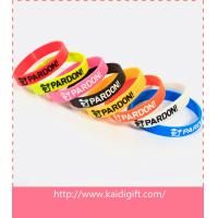 Buy cheap Promotional ink filled silicone bracelet from wholesalers