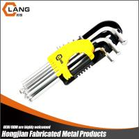 Buy cheap mirror finish long type ball point 9pcs hex key wrench set with logo from wholesalers